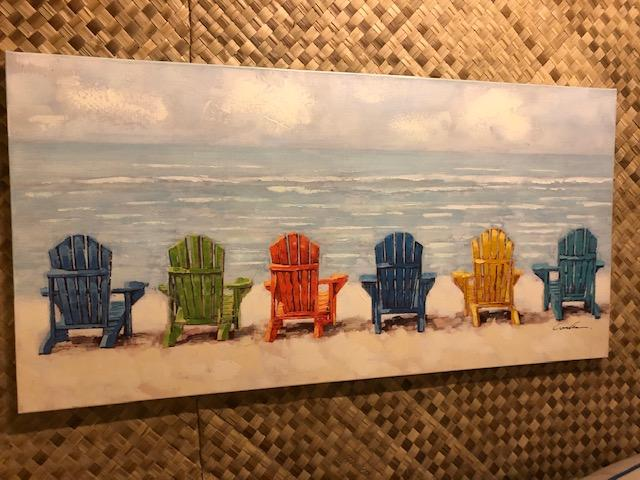 WALL HANGING $225 Beach Chairs