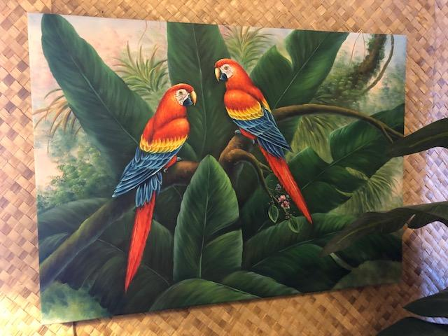 WALL HANGING. $199 Parrots
